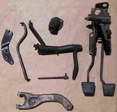 Each 1958 Impala Manual Trans Upper Clutch Pedal Push Rod